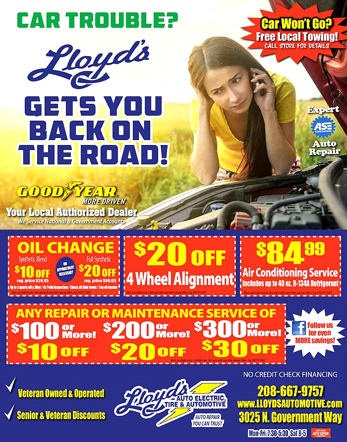 Lloyd's Automotive Coupons for the Coeur d Alene Shop